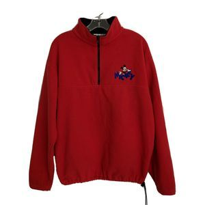 Vintage MENS SIZE M RED MICKEY MOUSE Disney Fleece